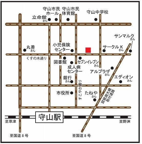 滋賀県守山市『あいあい整骨院』地図